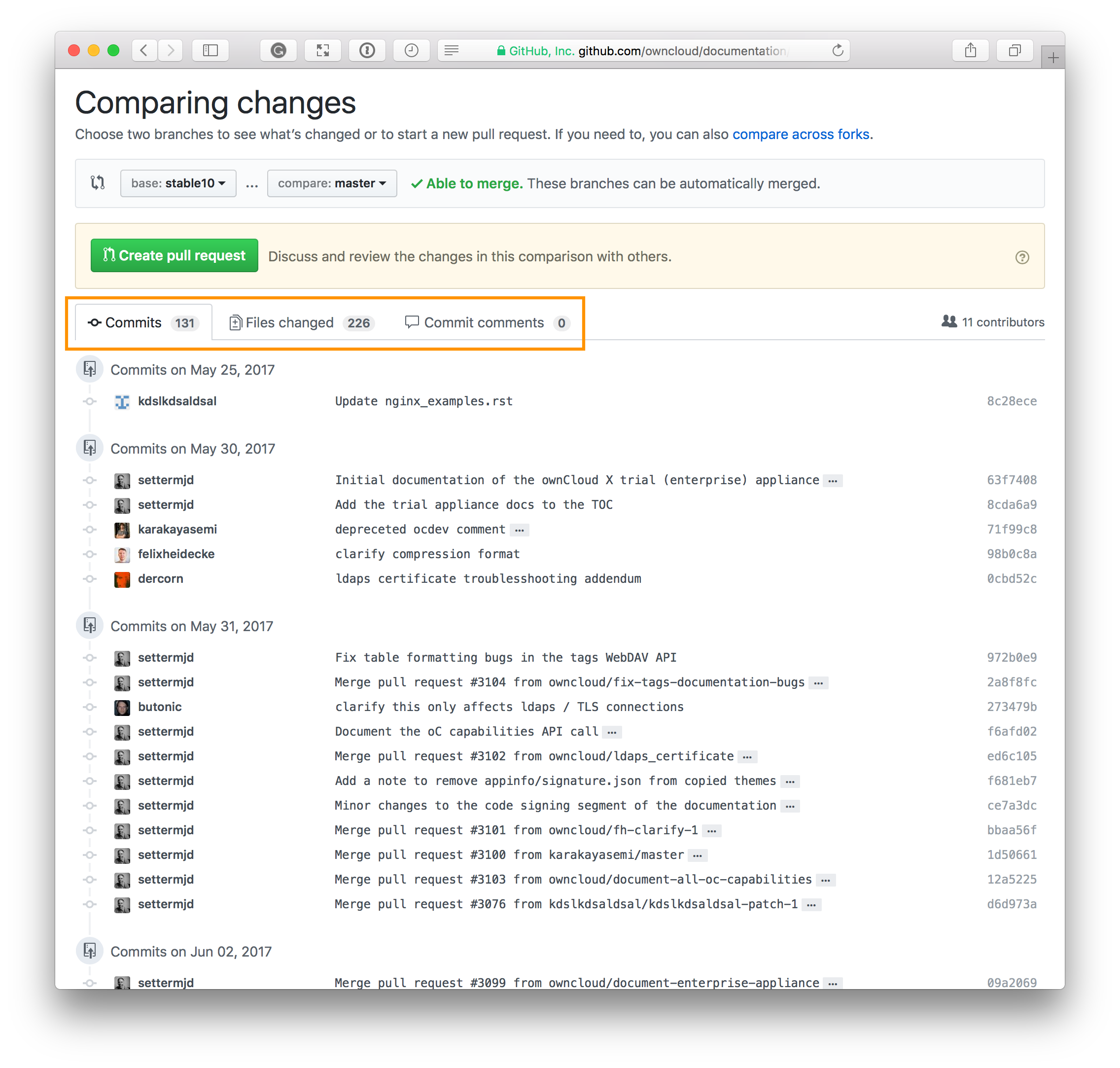 Use GitHub to Quickly Compare Two Branches and Create a PR