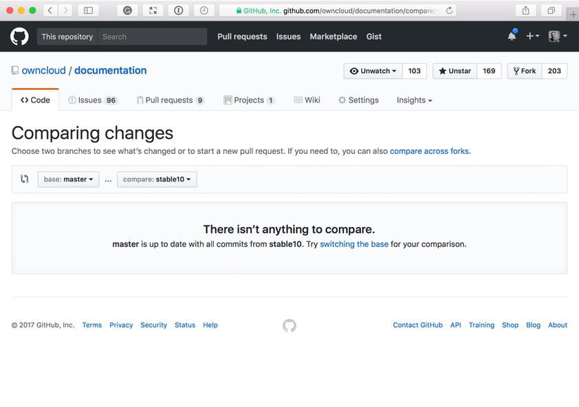Use GitHub to Quickly Compare Two Branches and Create a PR of the Changes