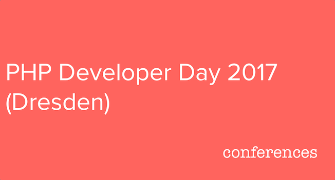 PHP Day 2017 (Dresden)