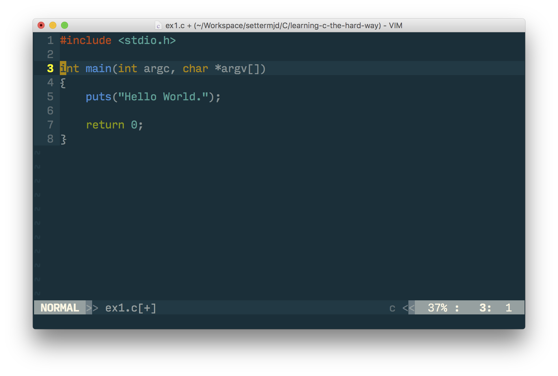 Relearning C with Vim